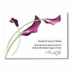 """Save-the-Date Karte """"Calla"""" - für die Hochzeit"""