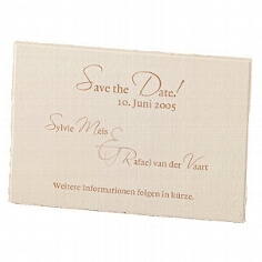 Save-the-Date Karte Sylvie