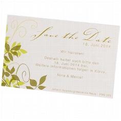 Save the Date-Karte Sylvia zur Hochzeit - Beispieltext