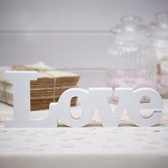 """Holzschriftzug """"Love"""""""