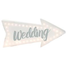 LED Schild zur Hochzeit