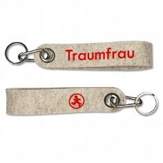 "Schlüsselanhänger ""Traumfrau"" aus Filz"