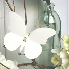 Papierdeko-Schmetterlinge, 30 St., weiß