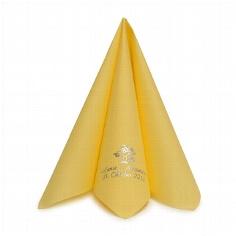 """Serviette """"Airlaid Dinner"""" gelb personalisiert"""