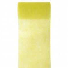 Gelbes Tischband aus Vlies zur Hochzeitsdekoration
