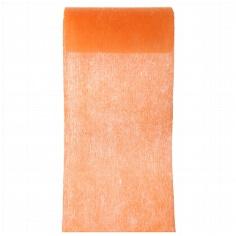 Orangenes Tischband aus Vlies zur Hochzeitsdekoration