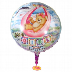 "Singing Ballon ""It´s a girl"""