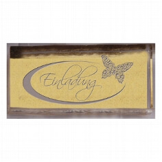 Stempel Einladung mit Schmetterling