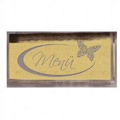 Stempel Menü mit Schmetterling