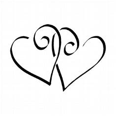 Stempel Zwei Herzen für Hochzeit und Liebeserklärung