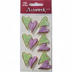 """Motiv-Sticker für die Hochzeit von Artoz """"farbige Herzen"""""""