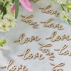 """Streudeko Holzschriftzug """"love"""""""