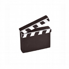 "Tischaccessoire ""Movie"" klein 2 St."