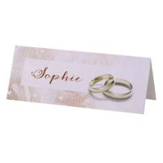 """Tischkarten """"Kylie"""" für die Hochzeit in zartem Rosa"""