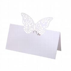 """Tischkarten """"Schmetterling"""" zur Hochzeit"""