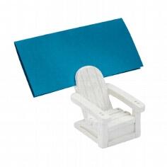 Tischkartenhalter Liegestuhl