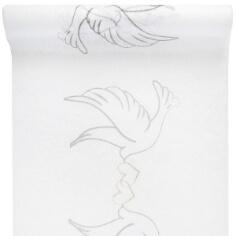 Tischläufer Taubenpaar, 5 m - Tischläifer mit Taubenpaar-Motiv