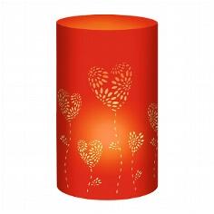 """Tischlichter """"Herzblumen"""", rot, 5 St.- rotes Tischlicht"""