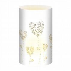 """Tischlichter """"Herzblumen"""", weiß, 5 St. - weißes Tischlicht"""