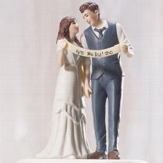 """Tortenfigur """"We did"""" - für Ihre Hochzeitstorte"""