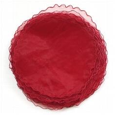Tüllkreis für Gastgeschenke in Dunkelrot