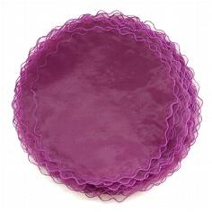 Tüllkreise für Gastgeschenke in Lila
