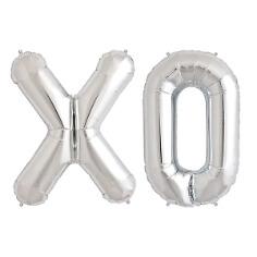 """XXL Folienballon Buchstabenset """"XO"""", silber"""