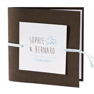 """Einladungskarte """"Reni"""" in Holzdesign"""