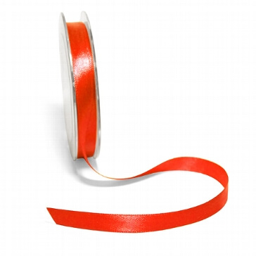 Satinband, 10 mm, 10 m, orange