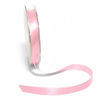 Satinband, 10 mm, 10 m, rosé
