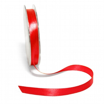 Satinband, 10 mm, 10 m, rot