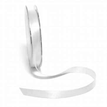 Satinband 10 mm, 10 m, weiß
