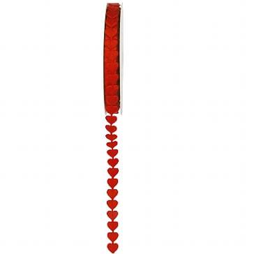 Geschenkverpackung Satinband Herz in Rot
