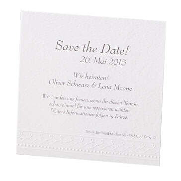 "Save the Date Karte ""Marie"""