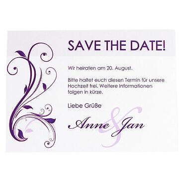 """Save the Date-Karte """"Violet"""""""