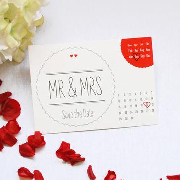 Save the Date Karte Mr & Mrs