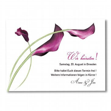 Save the Date-Karte Calla