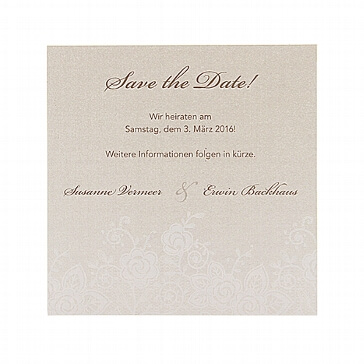 Save-the-Date oder Dankeskarte Louise zur Hochzeit