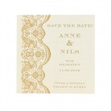 """Save-the-Date oder Dankeskarte """"Sharon"""" zur Hochzeit"""