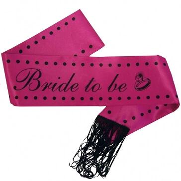 Schärpe Bride to Be für den Junggesellinnenabschied