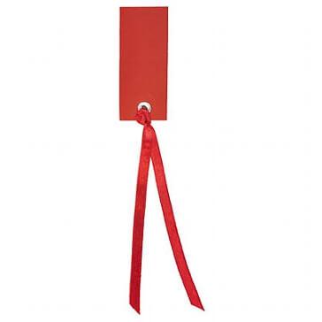Schild mit Satinband bordeaux