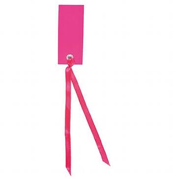 Schild mit Satinband fuchsia