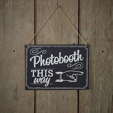 Schild für die Photobooth