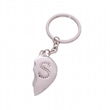 Schlüsselanhänger Geteiltes Herz - Geschenk zur Hochzeit