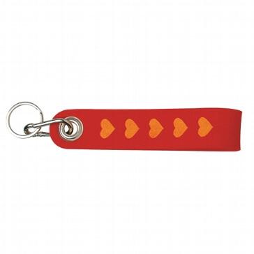 "Schlüsselanhänger ""Herzen"" aus rotem Filz"