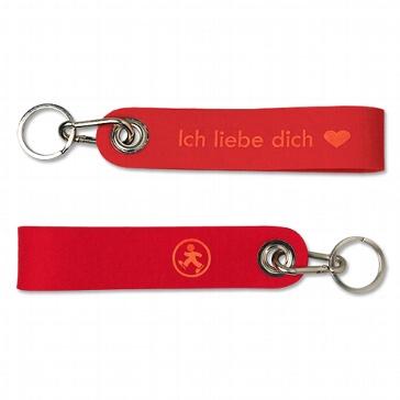 Schlüsselanhänger Ich liebe dich rot aus Filz