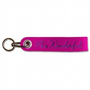 die besondere Geschenkidee Schluesselband Schluesselanhaenger Mrs. Wonderful