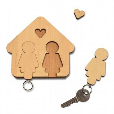 Schlüsselbrett Frau+Frau
