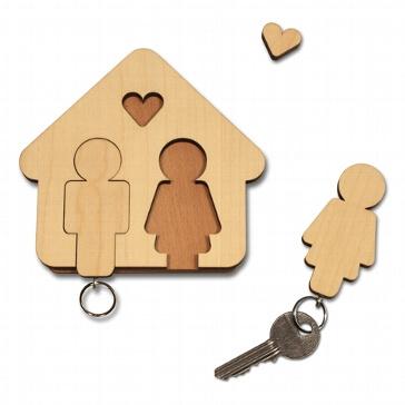 Schlüsselbrett Mann+Frau