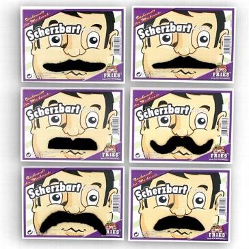 "Schnurrbärte ""Moustache"" sortiert 6 Stk."